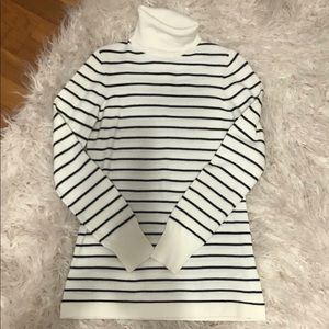 French Connection Striped Turtleneck